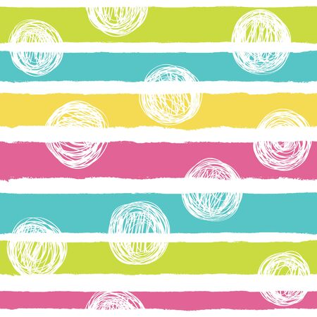 Simple vector pattern with stripes in bright colors.