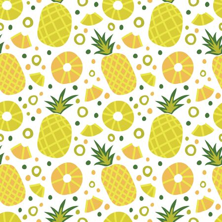 Seamless pattern with juicy pineapples. 向量圖像