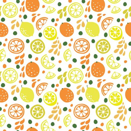 Seamless pattern with citrus fruits. 向量圖像