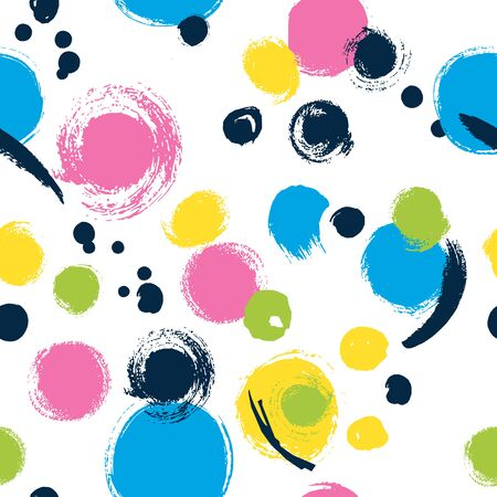 Simple seamless background in polka dots.