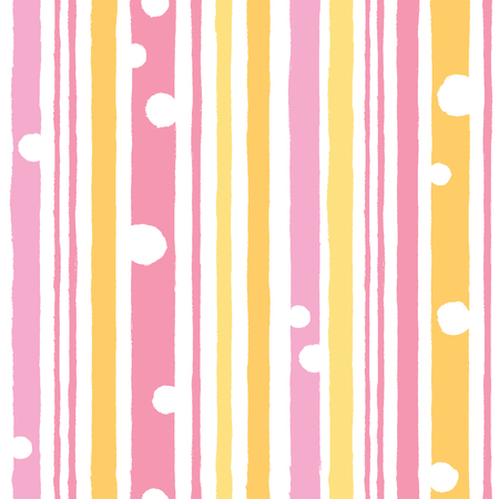 Simple pattern with vertical stripes in pink and yellow.