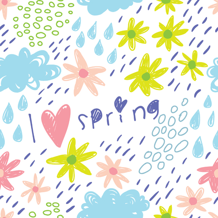 I love spring. Awesome floral pattern