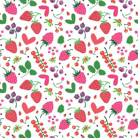 Raspberries and hearts. Çizim