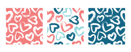 Three vector prints with hears.