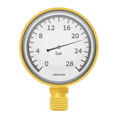 Vector illustration. Gold manometer. EPS10. Vector