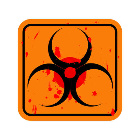 the bacteria signal: Vector icon. Sign biohazard isolated on white background.
