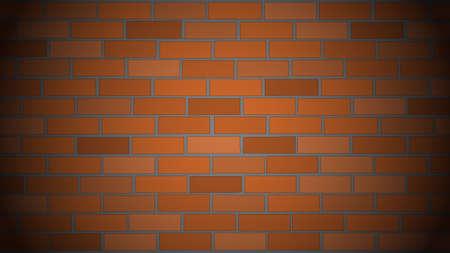 brickwall: Vector background or texture. Brick wall