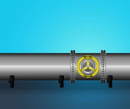 Vector illustration. Oil  pipeline.