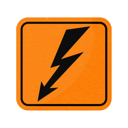 high voltage symbol: Vector icon. Sign of danger high voltage symbol isolated on white background.