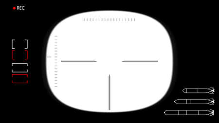 periscope: Vector illustration. Template for footage or photo - the viewfinder submarine periscope. Transparent center.