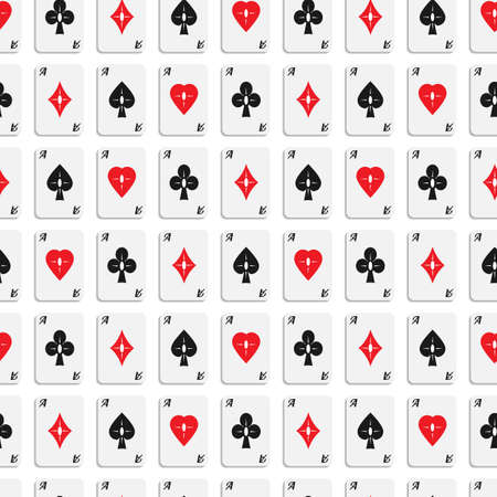 aces: Vector seamless  texture of aces with designer card suits.
