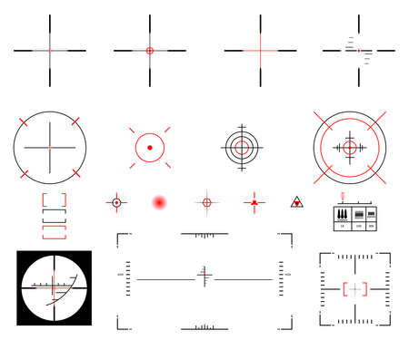 eyepiece: Vector illustration. A diverse set of sights.