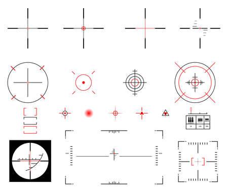 sights: Vector illustration. A diverse set of sights.