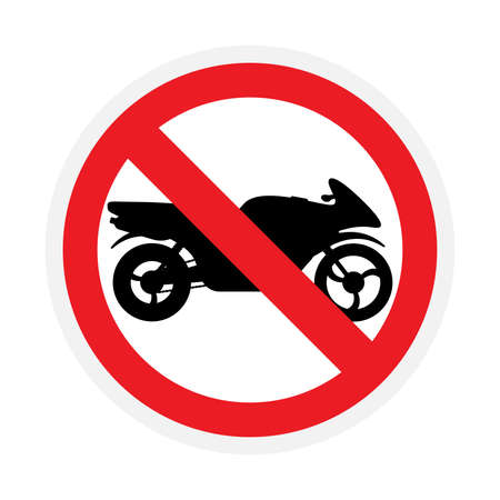 Vector sign riding on motorcycles is prohibited