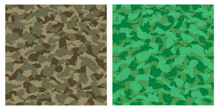 nato: Vector set of green camouflage seamless pattern.