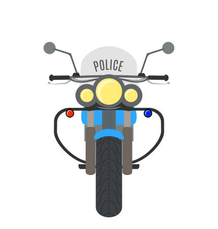 Vector cartoon highway police motorcycle.