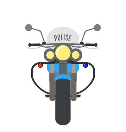 Vector cartoon verkeerspolitie motorfiets.