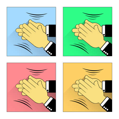 renown: Vector flat Applause icons set
