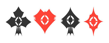 ternos: Creative set of four vector card suits Ilustra��o