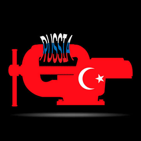 ultimatum: Clip in the colors of the flag of Turkey pulls down the word Russia.