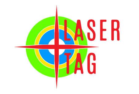 Vectorillustratie - embleem van lasermuis