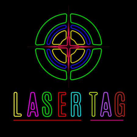 Vector elements of the logo laser tag