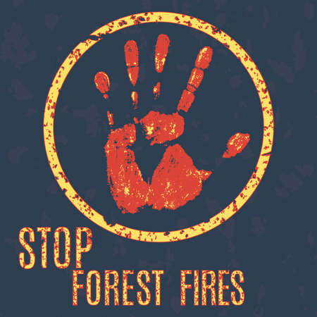 conflagration: Vector illustration -  stop wildfires