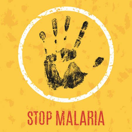 illness: Conceptual vector illustration of an appeal to stop the spread of malaria Illustration