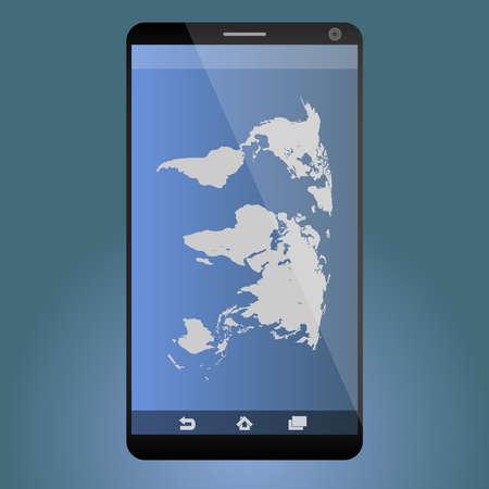 smartdigital: World map in your smartphone Illustration