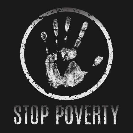 starvation: Conceptual vector illustration. The global problems of mankind. Stop poverty. Illustration