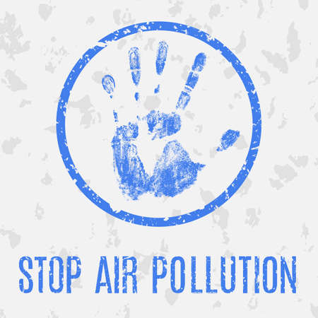 toxic cloud: Conceptual vector illustration. Global problems of humanity. Stop air pollution