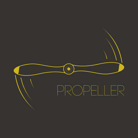 propeller: Vector illustration. Icon rotating propeller.  propeller. Symbol quadrocopter drone or aircraft. Illustration