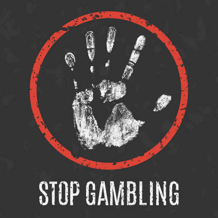problems: Conceptual vector illustration. Global problems of humanity.  stop gambling addiction Illustration