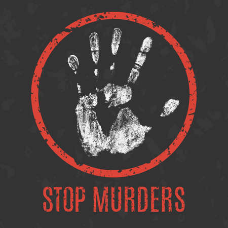massacre: Conceptual vector illustration. Global problems of humanity. stop murders