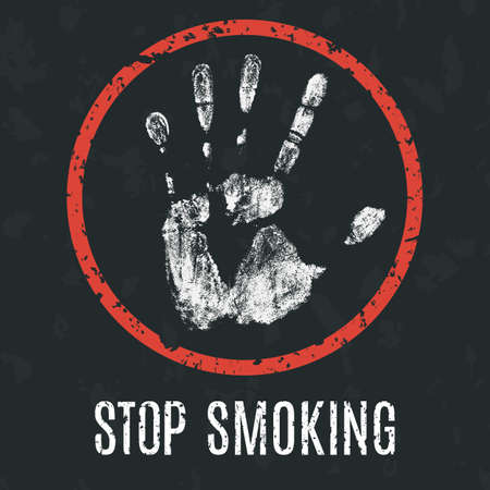 humanity: Conceptual vector illustration. Global problems of humanity. stop smoking