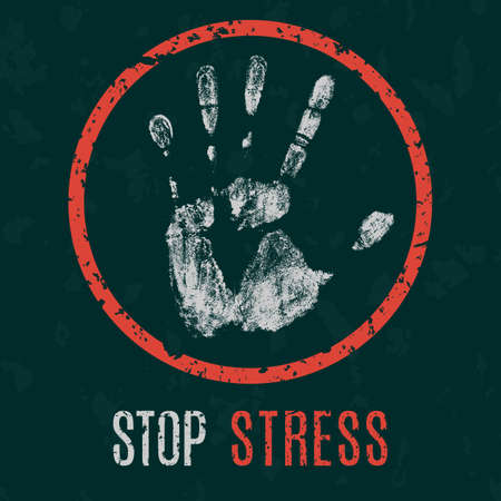 humanity: Conceptual vector illustration. Global problems of humanity. stop stress Illustration