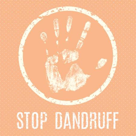 balsam: Conceptual vector illustration. Human diseases. Stop dandruff.