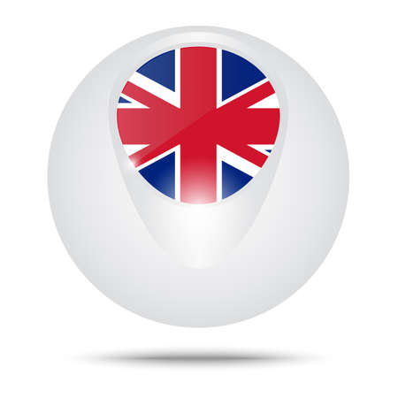 brit: Vector illustration. Conceptual sphere. Flag of the Great Britain.