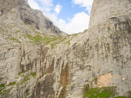 fisht: Pshehsky waterfall or Vodopadisty creek or waterfall Fisht. The height of the waterfall is 165 meters. Caucasus Nature Reserve. Caucasus mountain system. Stock Photo