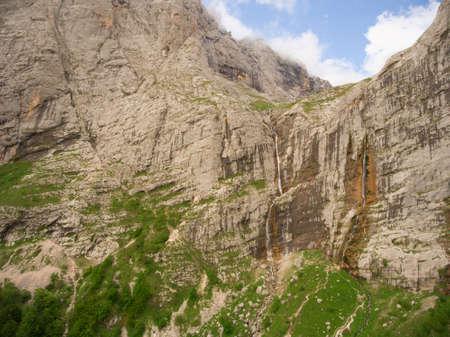 fisht: Pshehsky waterfall or Vodopadisty creek. Caucasus Nature Reserve. Caucasus mountain.