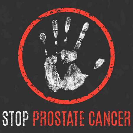 impotence: Conceptual vector illustration. Human diseases. Stop prostate cancer. Illustration