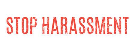 sex appeal: Vector illustration - red inscription stop harassment