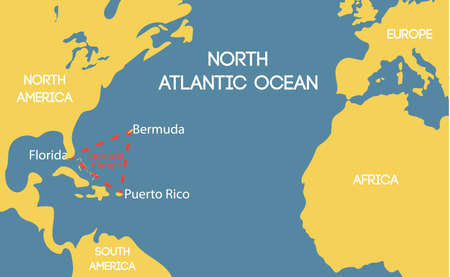 Bermuda Triangle Stock Photos Royalty Free Bermuda Triangle - Map of us and bermuda