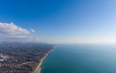 groyne: Drone photo. Aerial landscape of coastline.