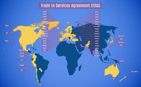 Vector Map Of Tisa Trade In Services Agreement Expectated