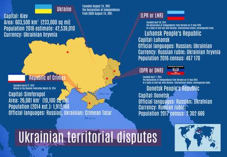 geopolitics: Vector map. Ukrainian territorial disputes Illustration
