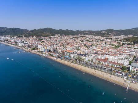 Aerial view of the Turkish coastal town of Marmaris. Stock Photo