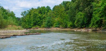 Natural landscape. The banks of the river.