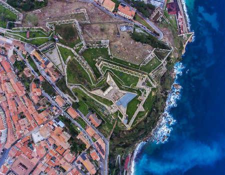 Top view of the Fort Falcone in Portoferraio on Elba island, Italy. Archivio Fotografico - 116682766