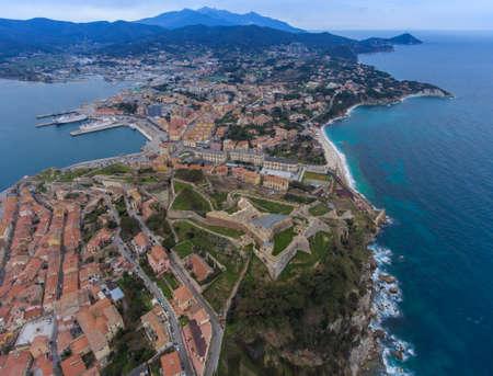 Aerial view of the Portoferraio on Elba island, Italy. Archivio Fotografico - 116682811